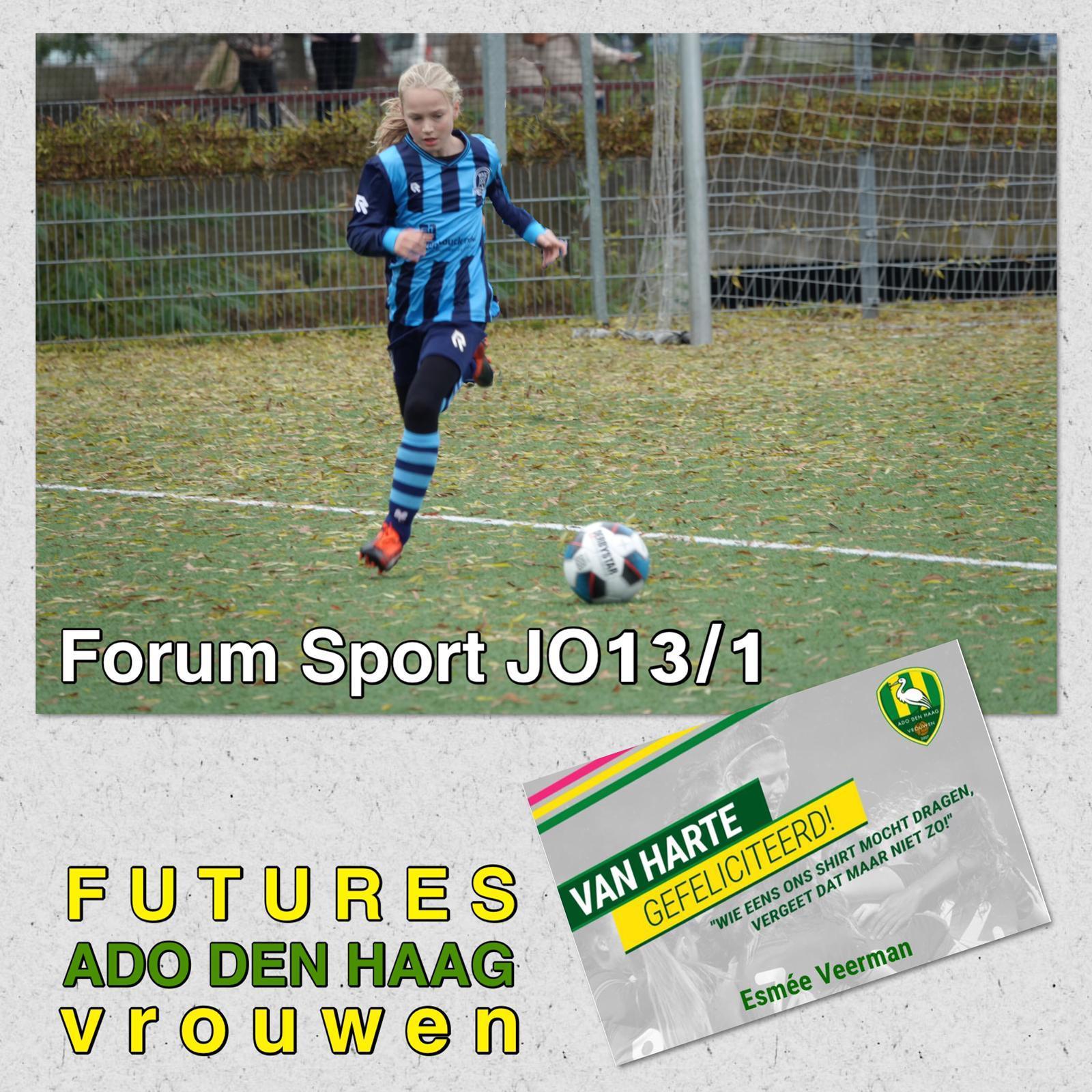 Esmée Veerman geselecteerd bij ADO Den Haag Futures