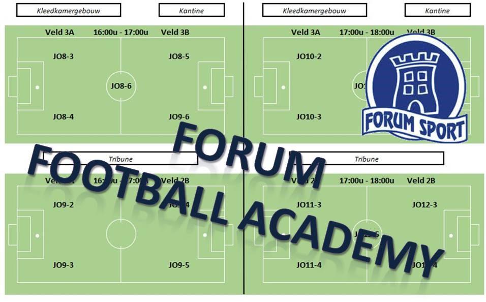 Oefeningen op de website van Forum Football Academy