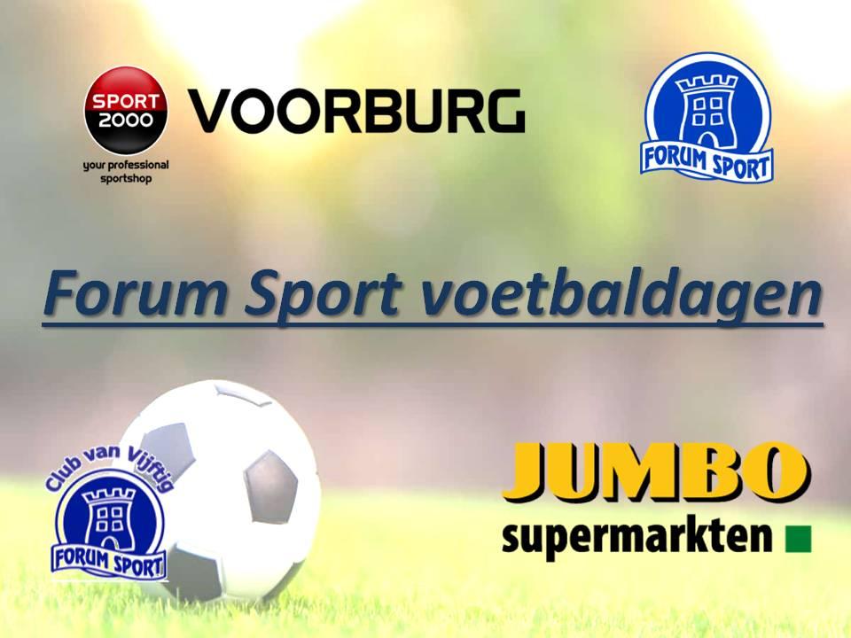 Sport 2000 voetbaldagen voor de jeugd in de zomervakantie bij Forum Sport.