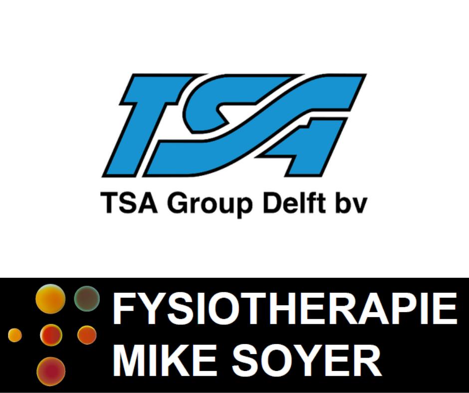TSA Group Delft verlengt het hoofdsponsorcontract met 3 jaar en Fysiotherapie Mike Soyer komt erbij als Co-Sponsor. Super blij met onze partners!