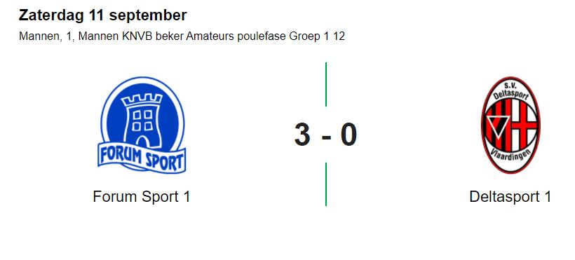 Forum Sport wint ook 2e bekerwedstrijd, hattrick Luuk Goedbloed!