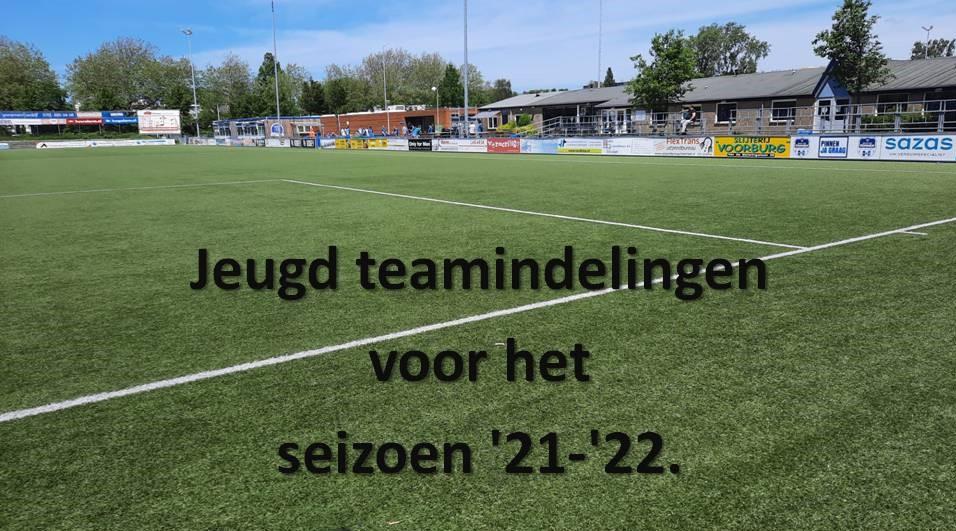 Hierbij de jeugd teamindelingen voor het seizoen '21-'22.