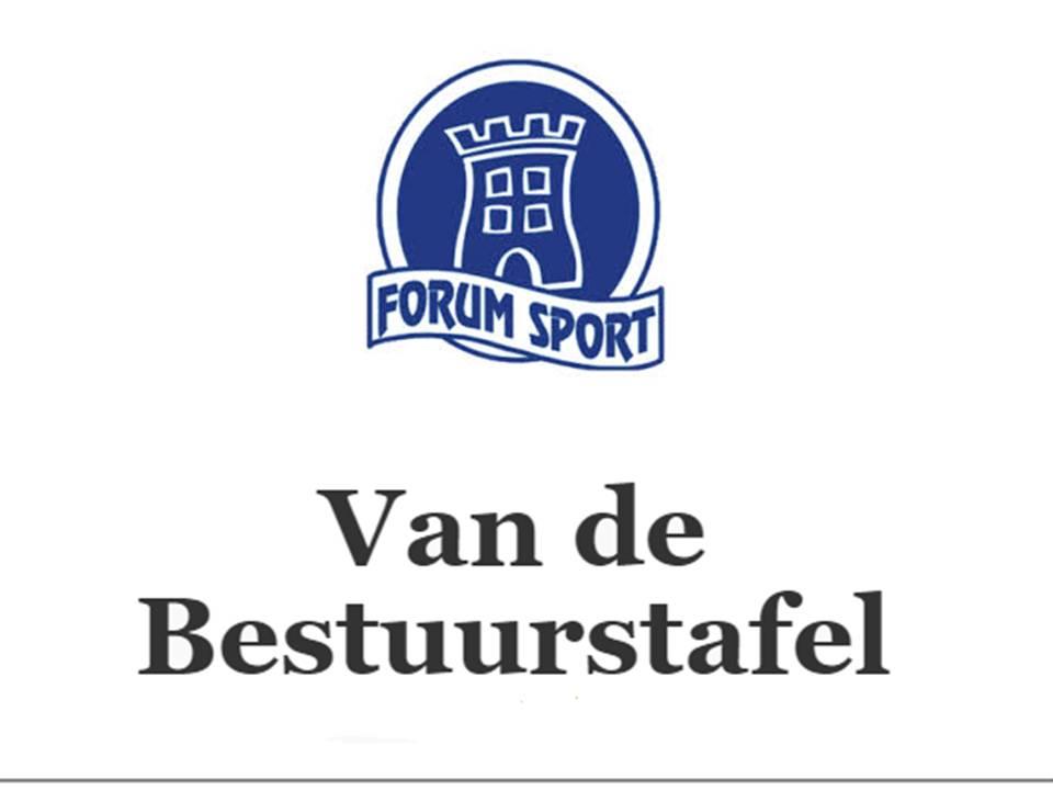 FORUM SPORT - Van de bestuurstafel - Donderdag 8 april 2021